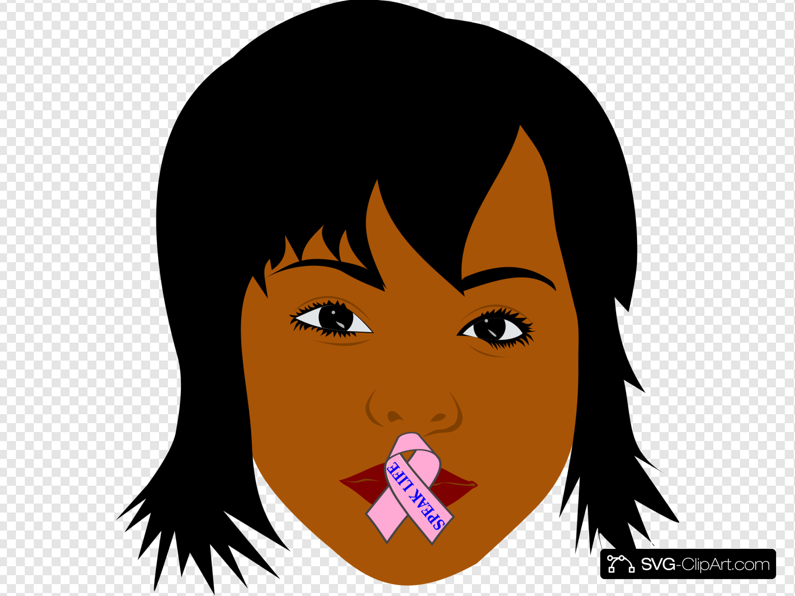 African American Woman Speak Life Clip art, Icon and SVG.