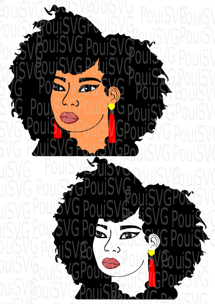 Black girl with afro svg. ⚡ Afro svg silver crown clipart.
