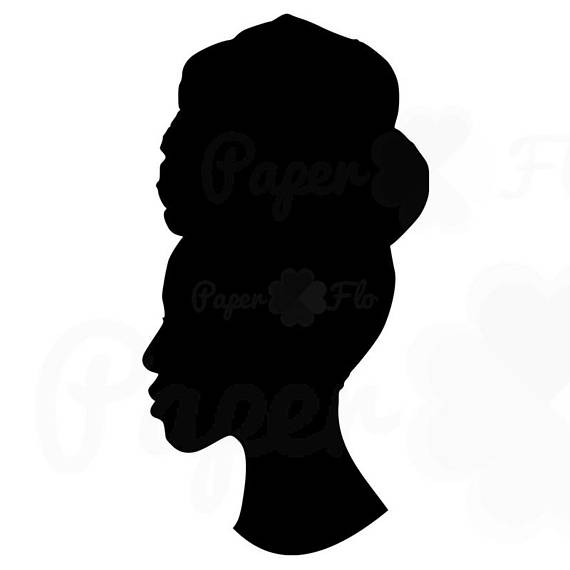 African American Woman Silhouette Svg.