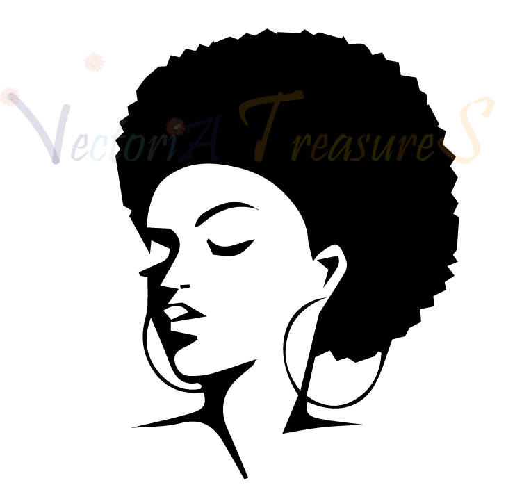 African American Woman Face Silhouette at GetDrawings.com.