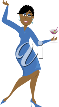 Clip art illustration of a cartoon of an African American.