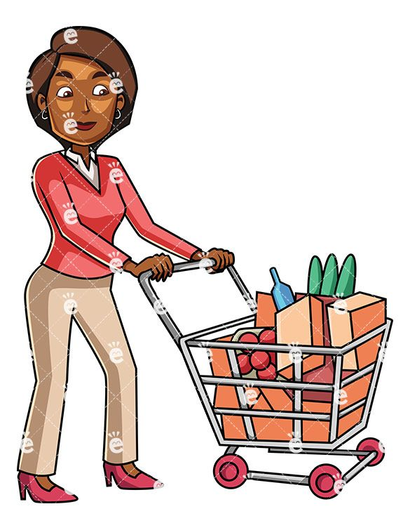 A Young Black Woman Grocery Shopping in 2019.