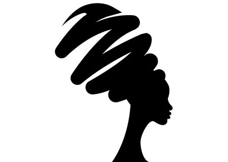4,438 African American Woman Silhouette Stock Illustrations.