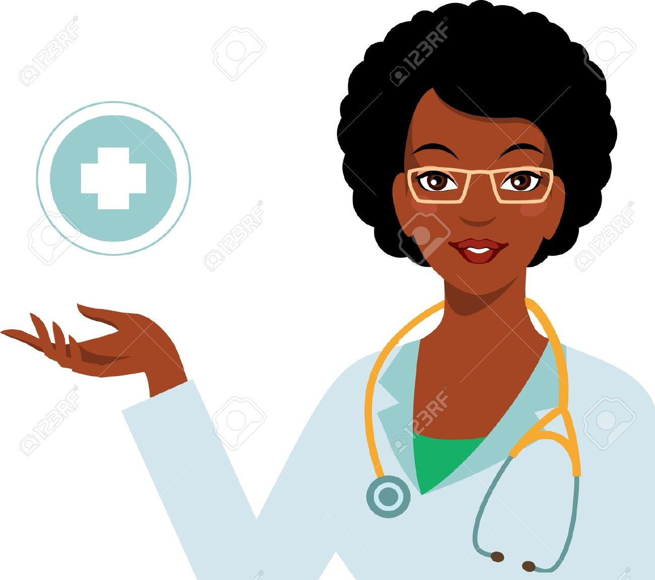 African American Doctor Clipart.