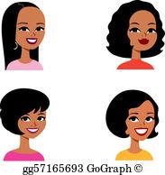 African American Women Clip Art.
