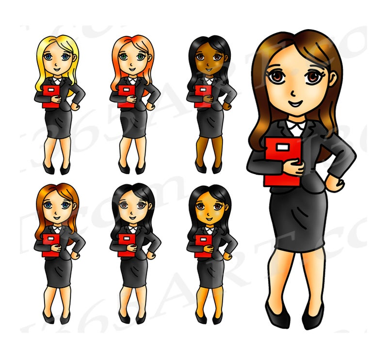 50% OFF Business Woman Clipart, Business Woman Clip Art, Girl Boss Clipart,  Working Woman, Office, Girls, Planner Stickers, African American.