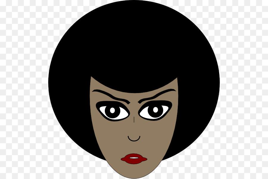African American Female Silhouette Clip art.