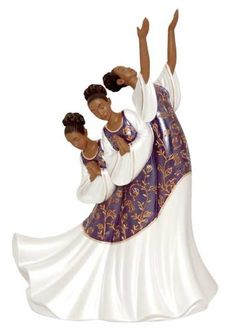 African american woman praising dancer clipart.