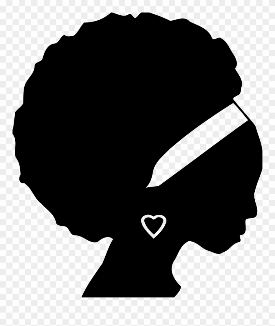 African Americans Black Woman Silhouette Female.