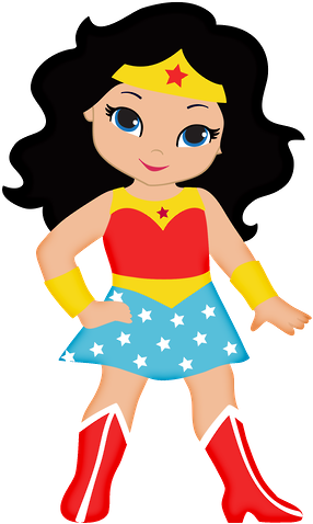 Cute Wonder Woman Clipart.