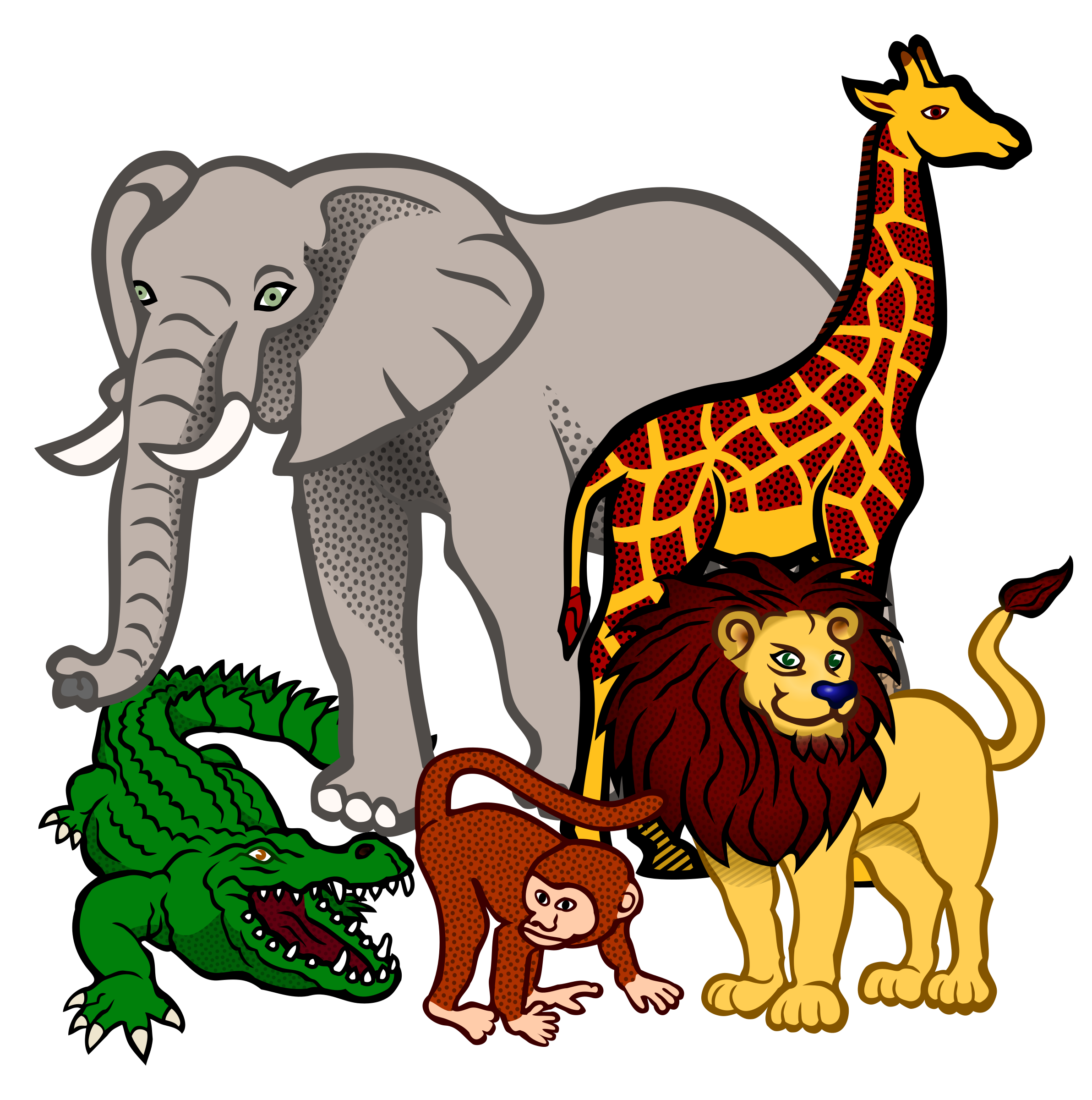 African animal clipart.