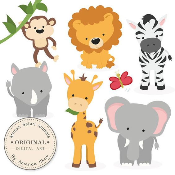 Premium African Safari Animals Clip Art & Vectors.