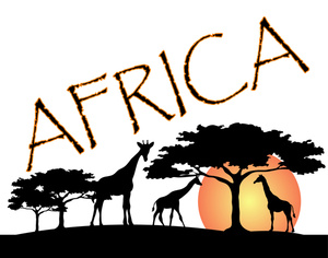 African Animal Silhouette Clipart.