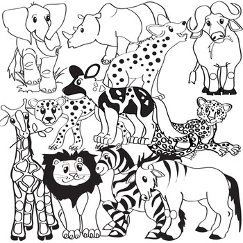 African Animals Clip Art.