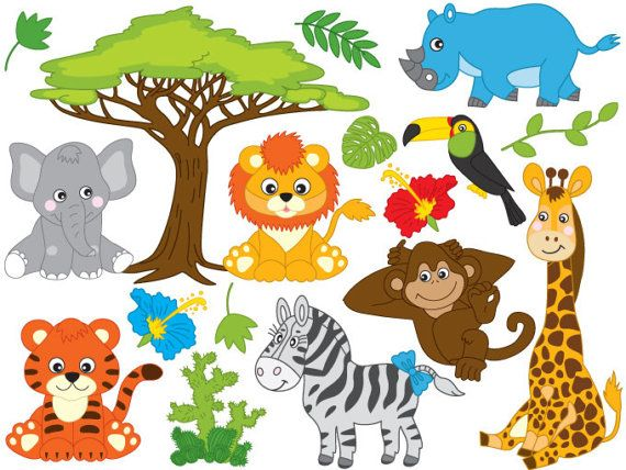 580 Safari Animals free clipart.