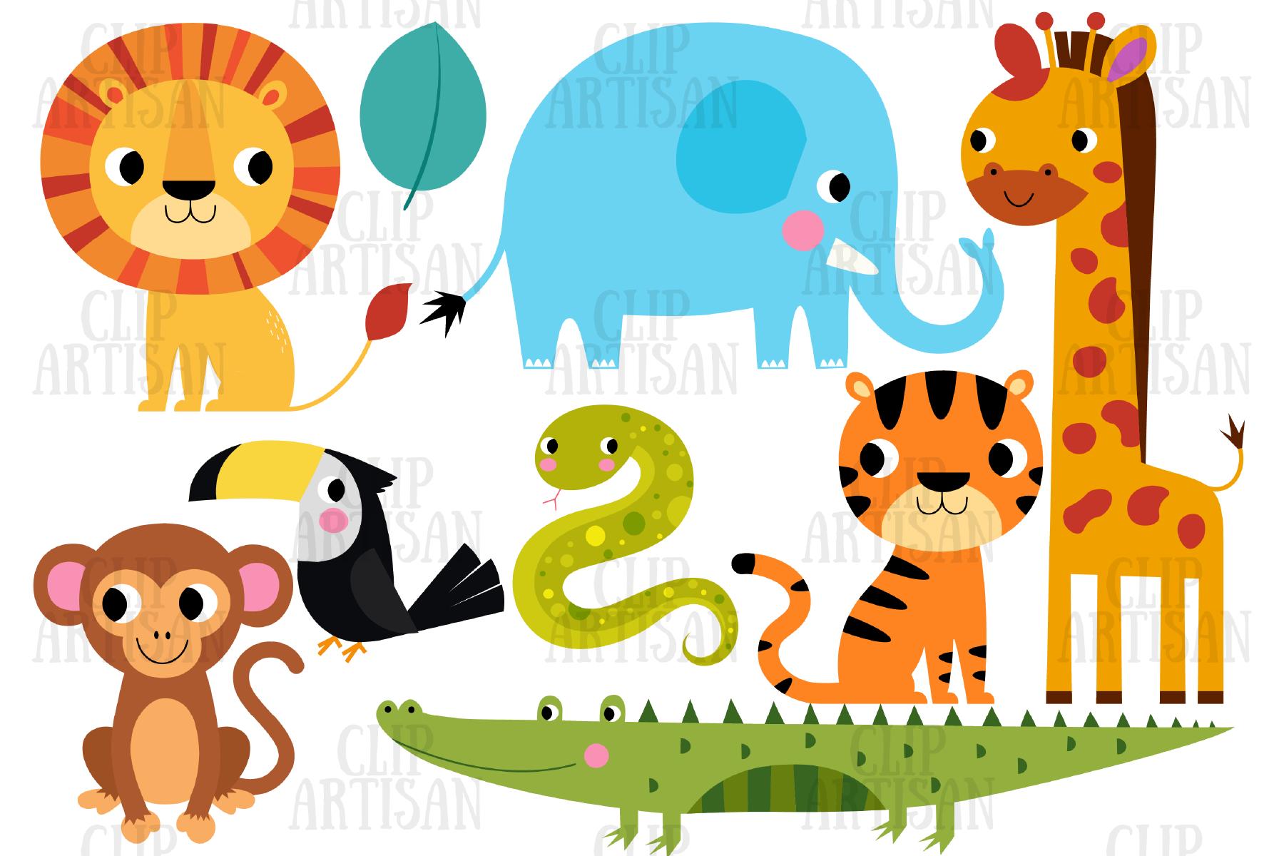 African Animals Clip Art, Safari, Zoo By ClipArtisan.