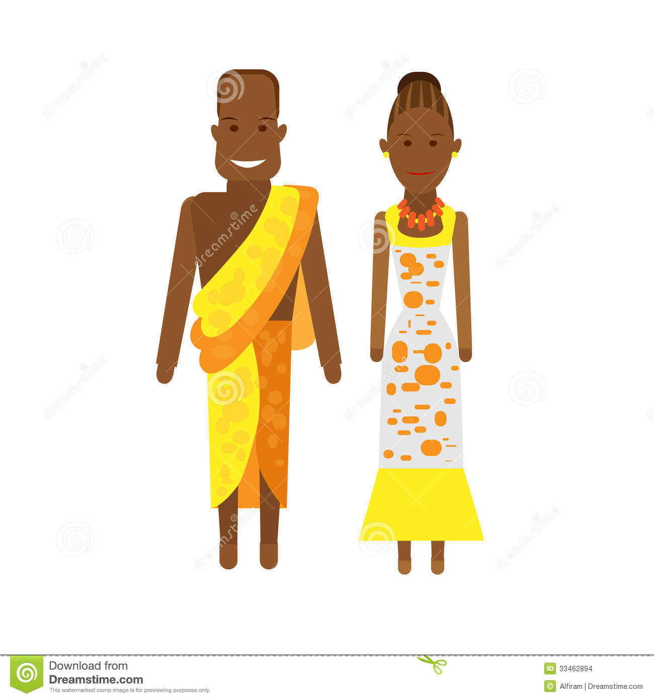 African Traditional Clothing Clipart.