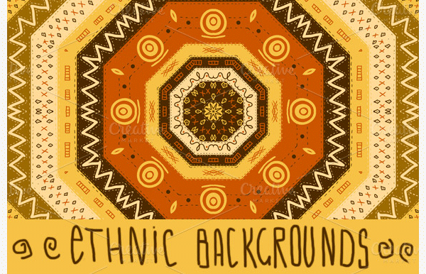 Amazing Collection of 50+ Ethnic backgrounds & Patterns Seamless.