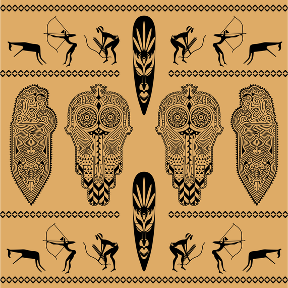 Ethnic African Background.