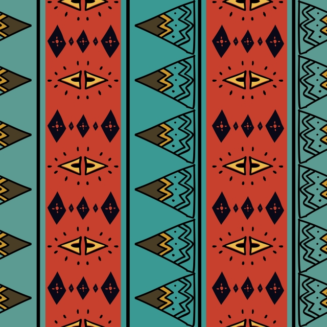 Tribal Seamless Pattern With African Colorful Background, Background.
