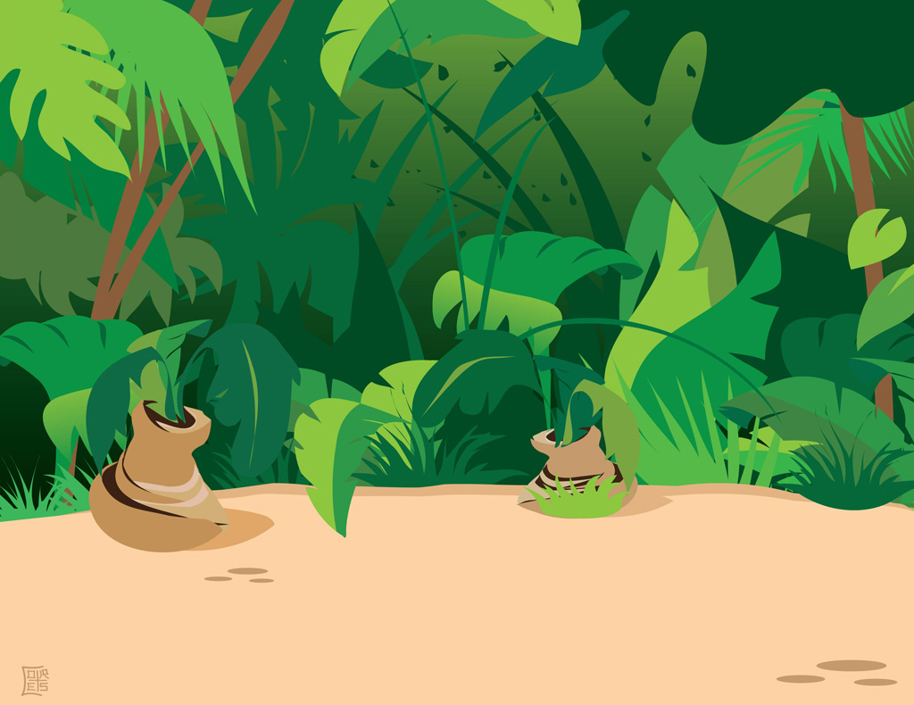 African forest background clipart.