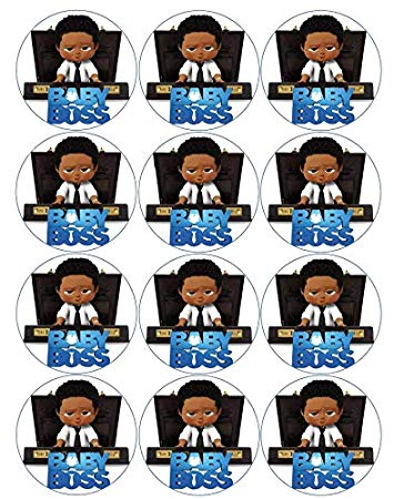 Baby Boss Briefcase Baby Afro Baby African American Boss Baby Boy Cupcake  Toppers Pre.