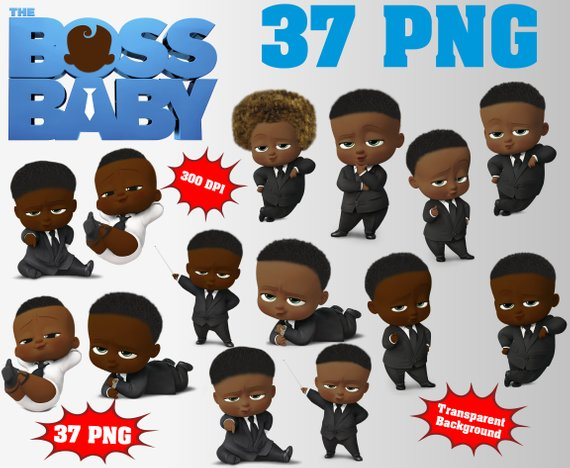 African The Boss Baby Clipart Logo Included.