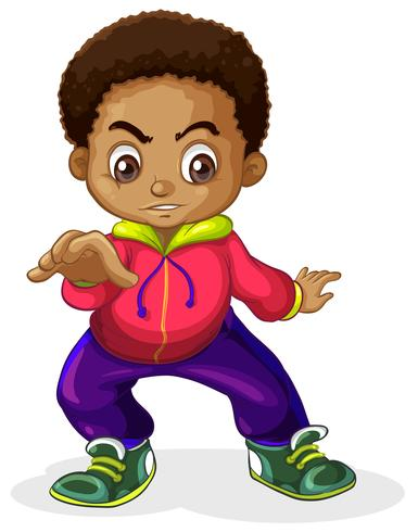 An African boy characters.