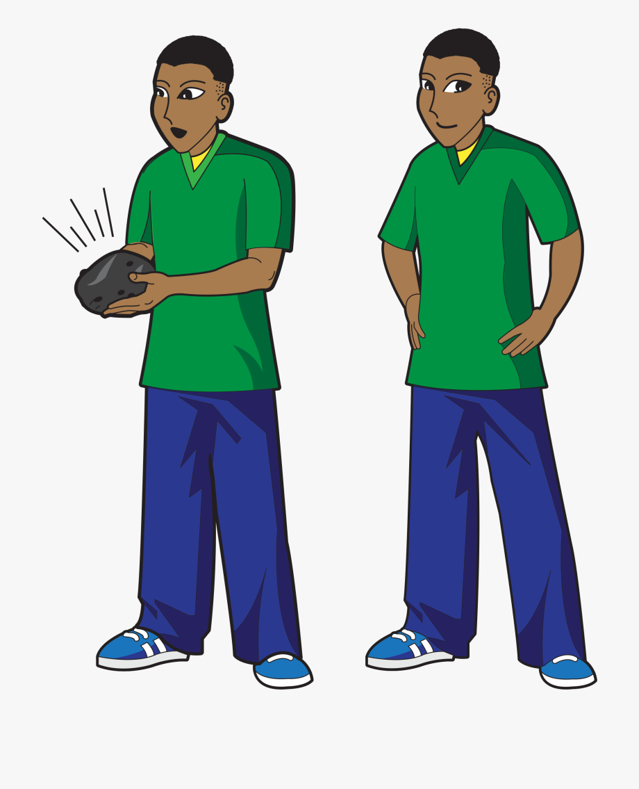 African Teenage Boy Clip Art.