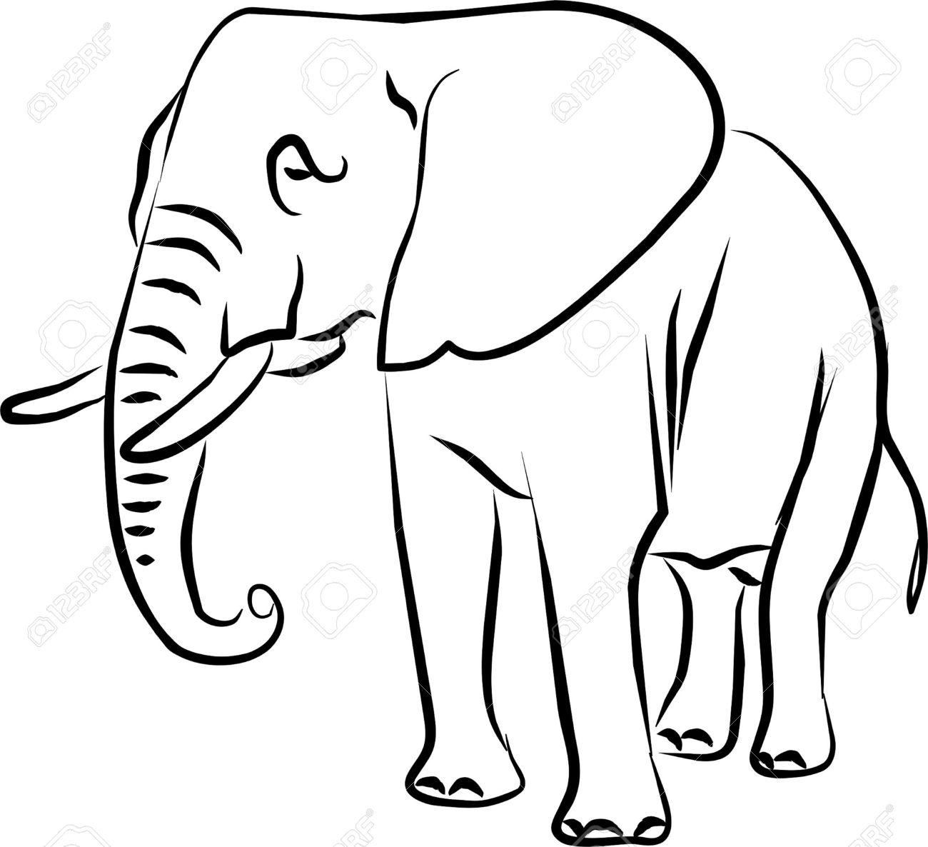 African bush elephant clipart.
