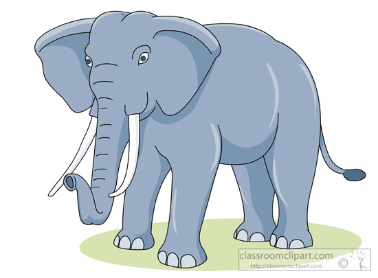 African bush elephant clipart.