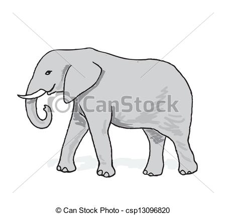 Vector Illustration of African elephant.