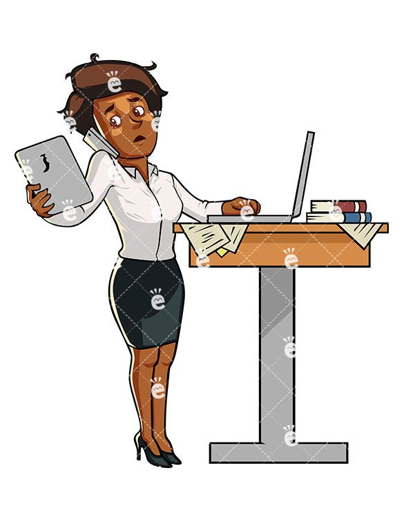 Pin on Black Businesswoman Clipart.