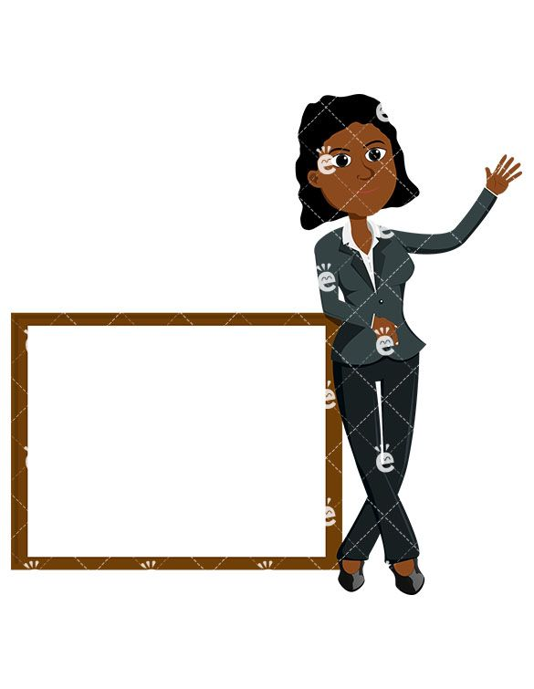 A Black Businesswoman Standing Near An Empty Presentation.