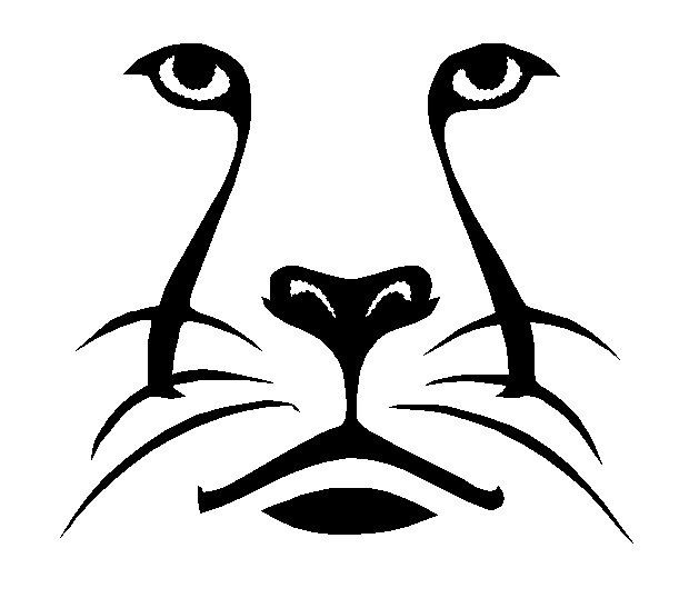 Big Cat Fill Outline. INSTANT DOWNLOAD Machine Embroidery.