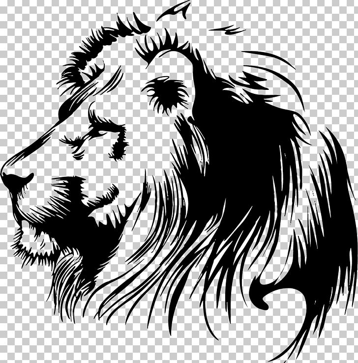 Lion Stencil PNG, Clipart, Animals, Art, Big Cats, Black And.