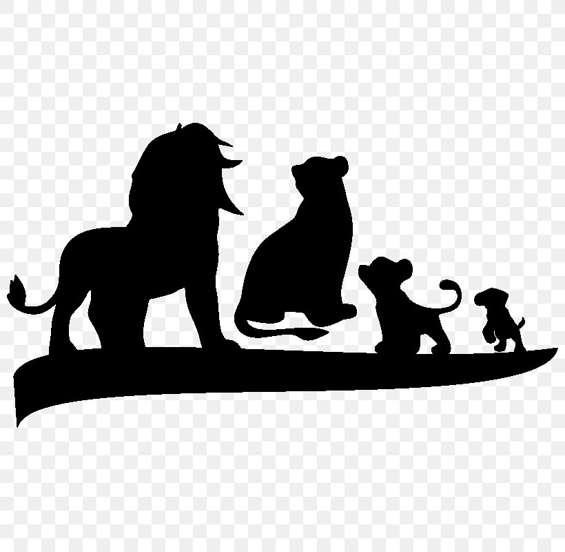 Silhouette Pumbaa Wall Decal Clip Art, PNG, 800x800px.