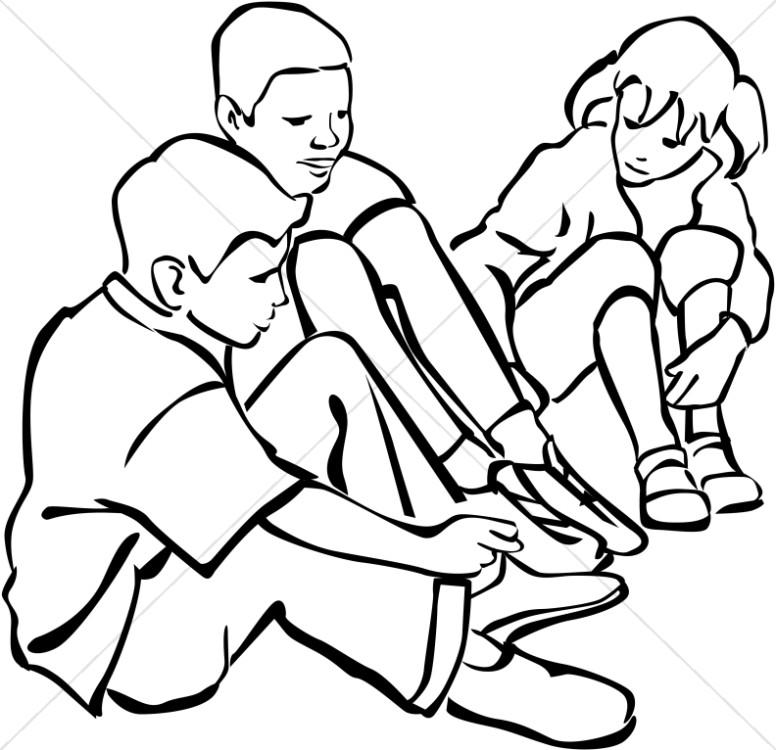 Children in a Circle.