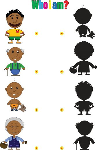 Illustration of african characters for the children\'s book.