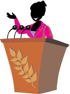 Speaker Person Cliparts.