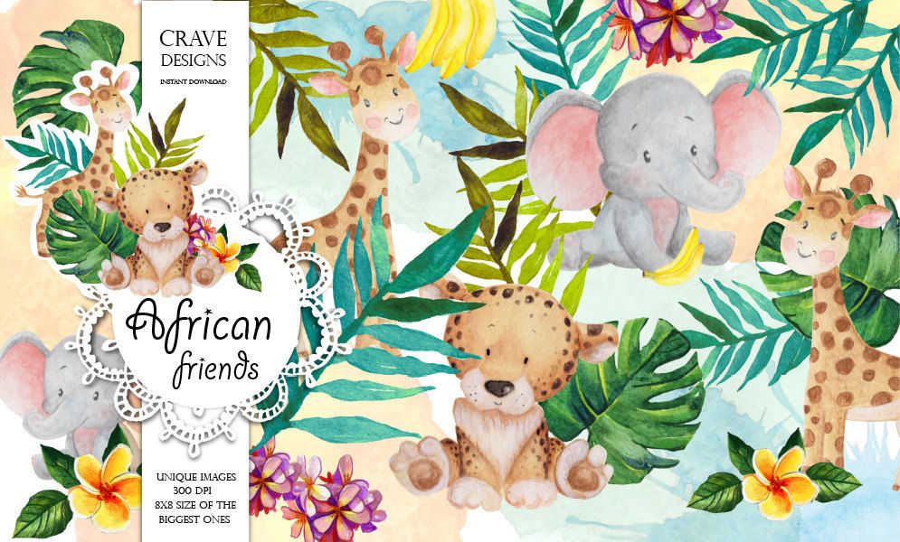 African Friends Clip Art By Crave Designs.
