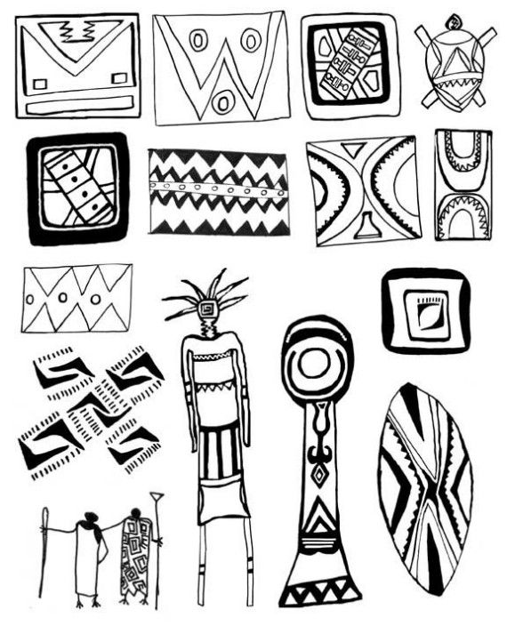 African Designs by artsource on Etsy.