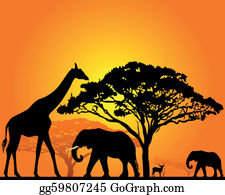 African Animal Clip Art.