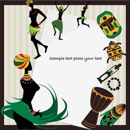 African Pattern Background Clipart Picture Free Download.