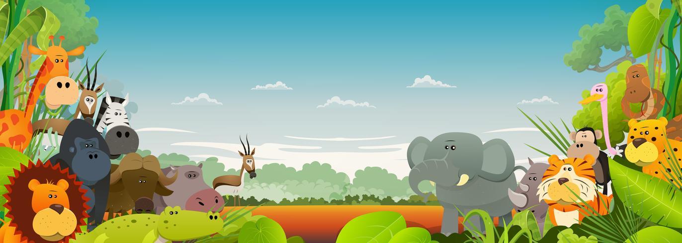 Wildlife African Animals Background.