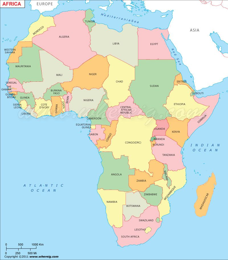 Map of #Africa.