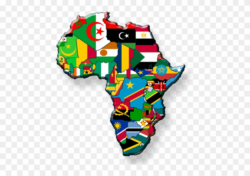 African Countries Flags.