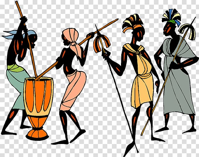 Tribe Africans Culture , Ethic transparent background PNG.