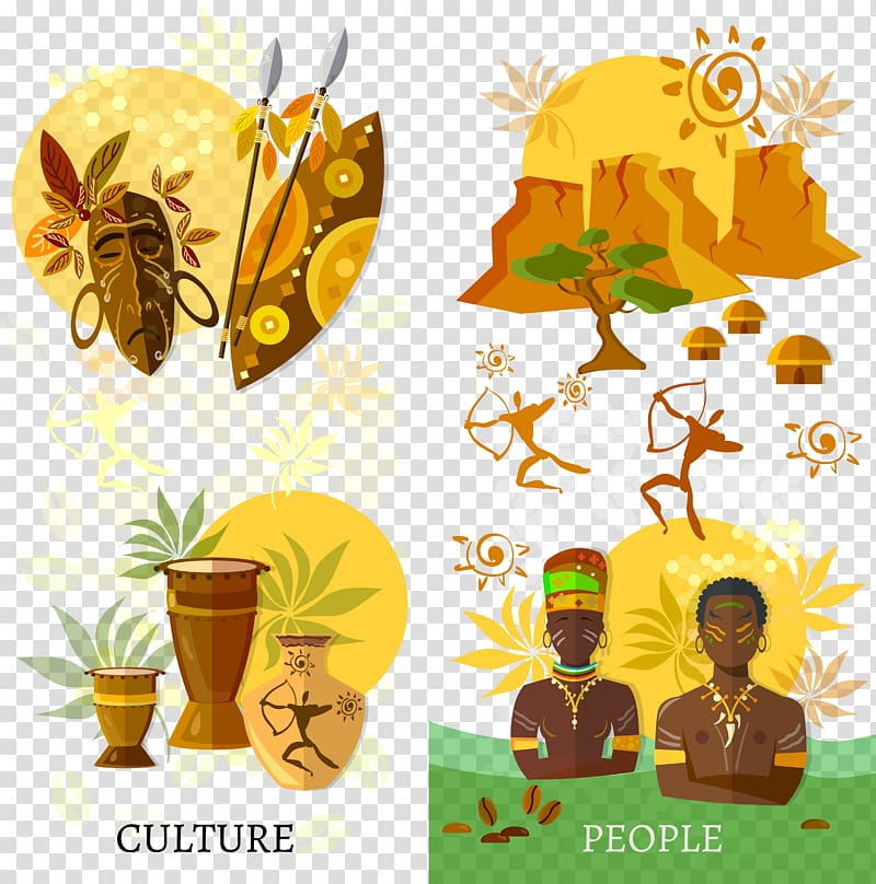 Culture and people paintings, Africa Culture Tradition.