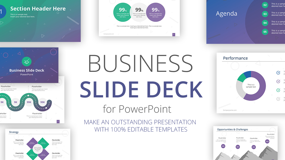 Professional Business Slide Deck PowerPoint Template.